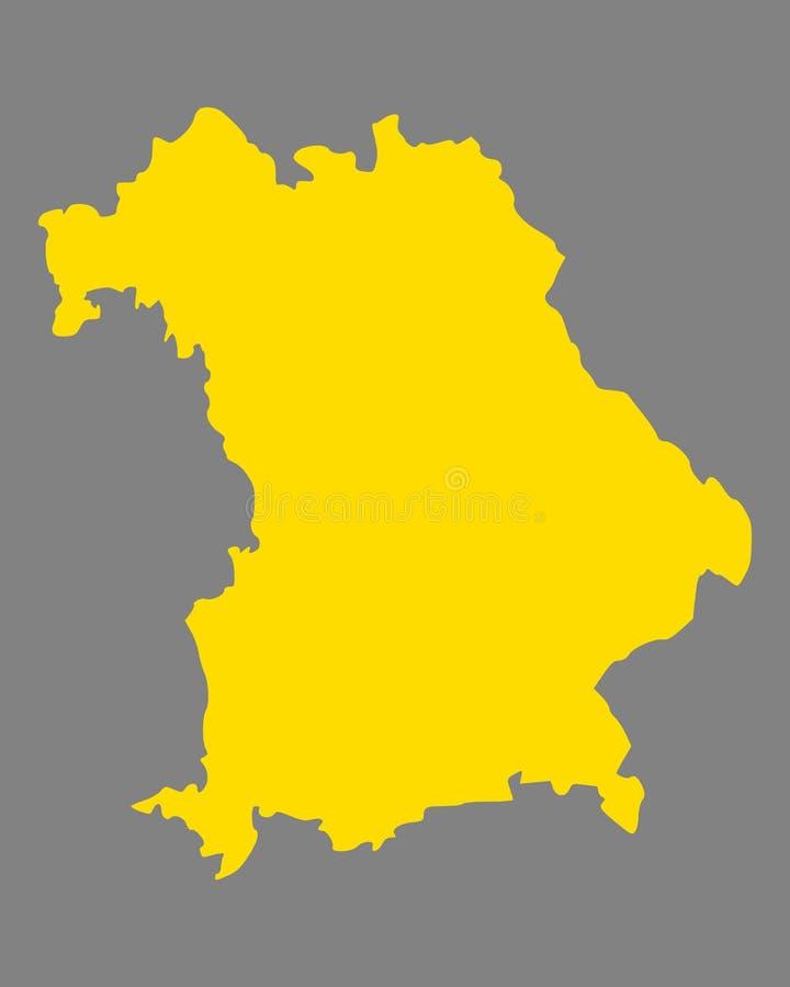 Karte von Bayern stock abbildung