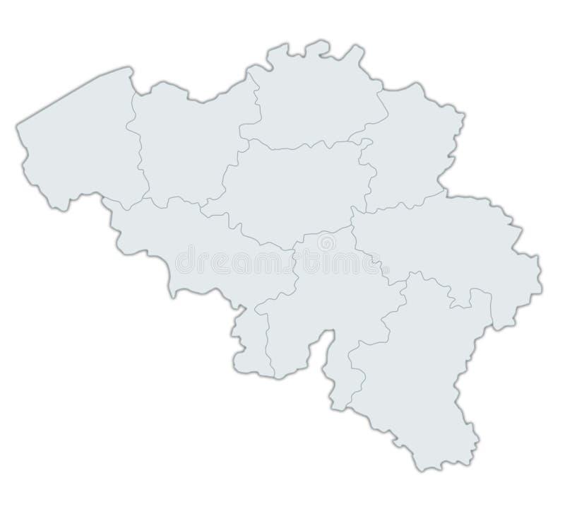 Karte von Belgien lizenzfreie abbildung