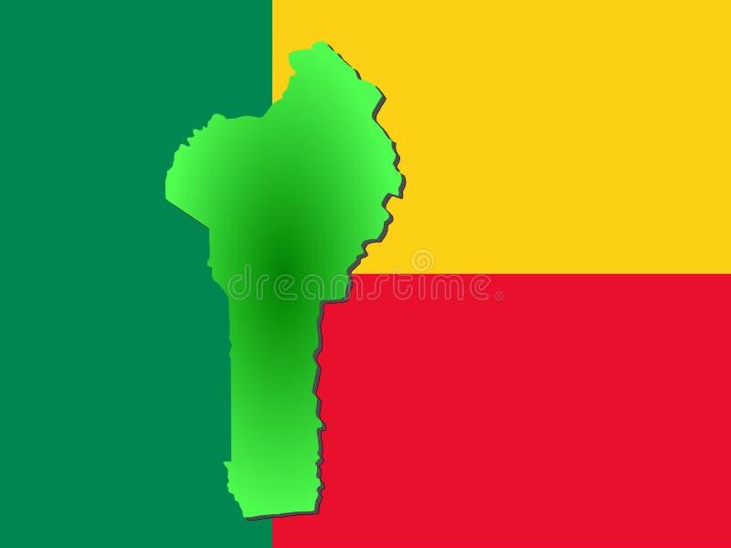 Karte von Benin lizenzfreie abbildung