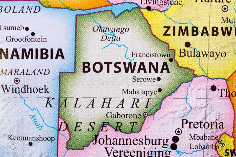Karte von Botswana stockfoto