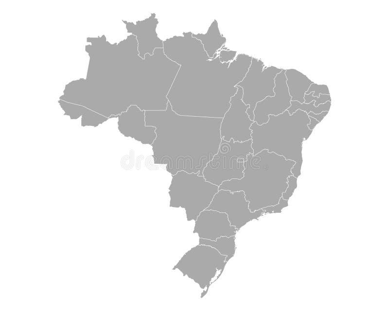 Karte von Brasilien stock abbildung