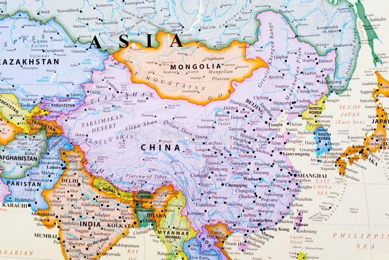 Karte von China stockfotografie