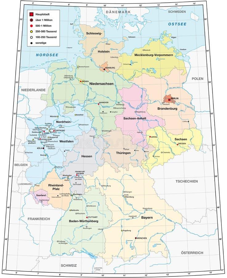 Niedersachsen Karte Mit Städten