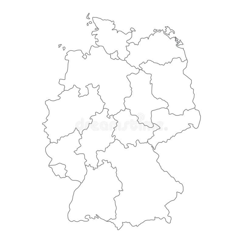 leere deutschland karte Karte Von Deutschland Teilte Sich Zu Den Bundesländern Vektor