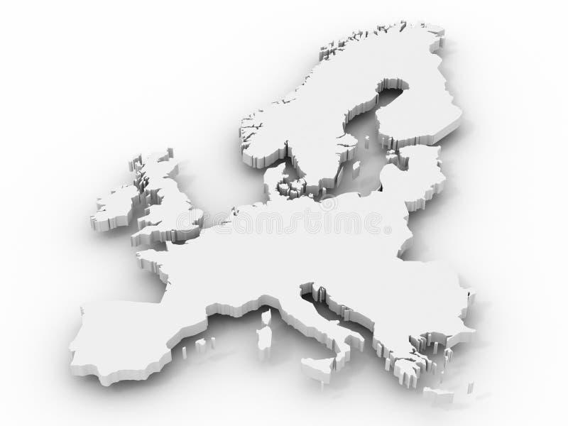 Karte von Europa lizenzfreie abbildung