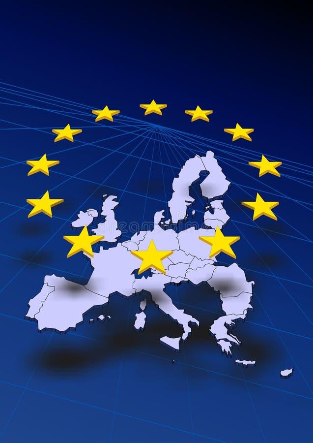 Karte von Europa vektor abbildung