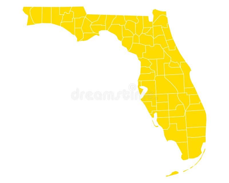 Karte von Florida stock abbildung