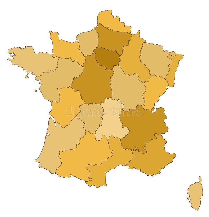 Karte von Frankreich vektor abbildung