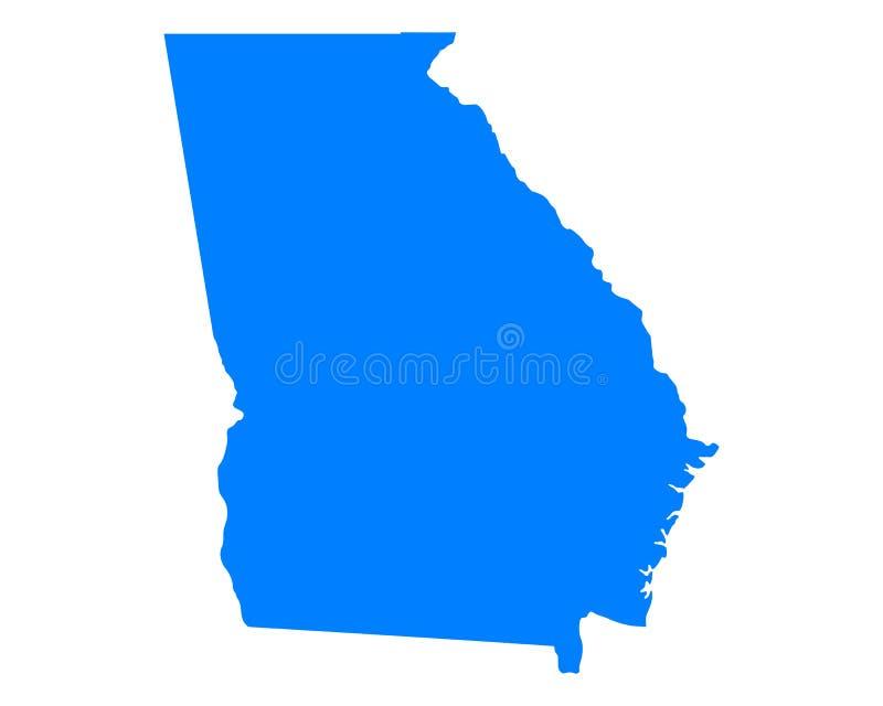 Karte von Georgia lizenzfreie abbildung
