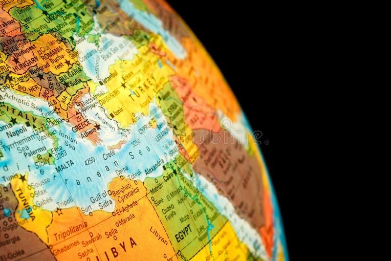 Karte von Griechenland stockfotos