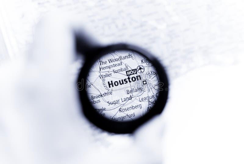 Karte von Houston lizenzfreie stockfotos