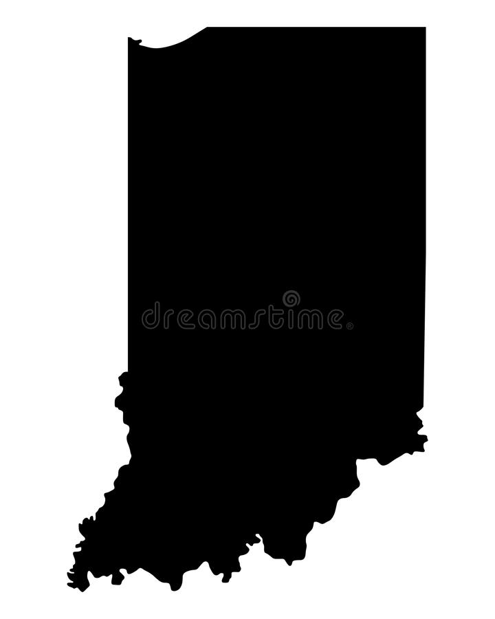 Karte von Indiana vektor abbildung