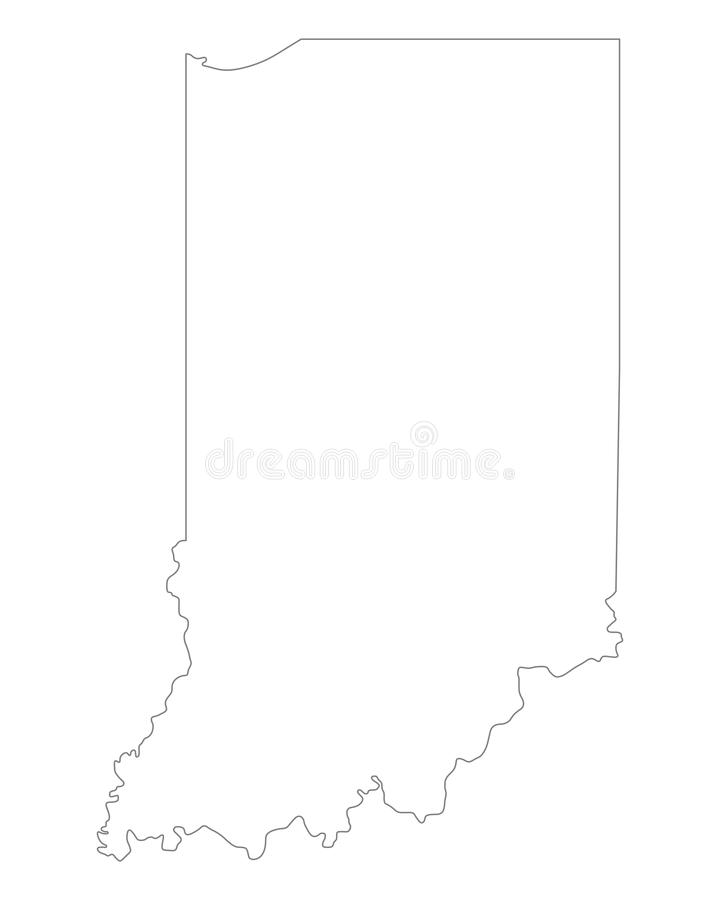 Karte von Indiana stock abbildung