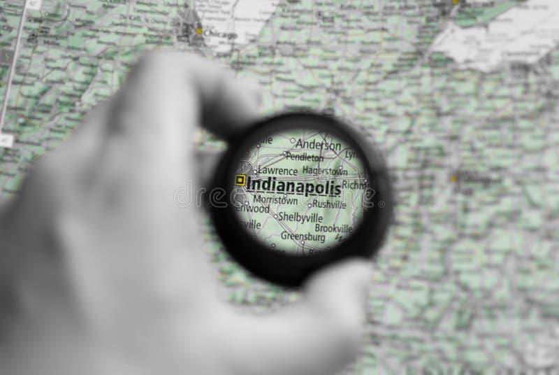 Karte von Indianapolis stockfoto