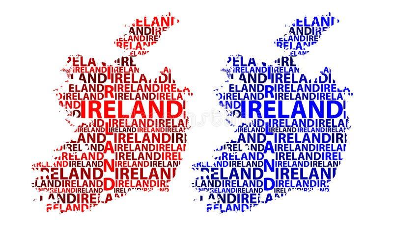 Karte von Irland - Vektorillustration stock abbildung