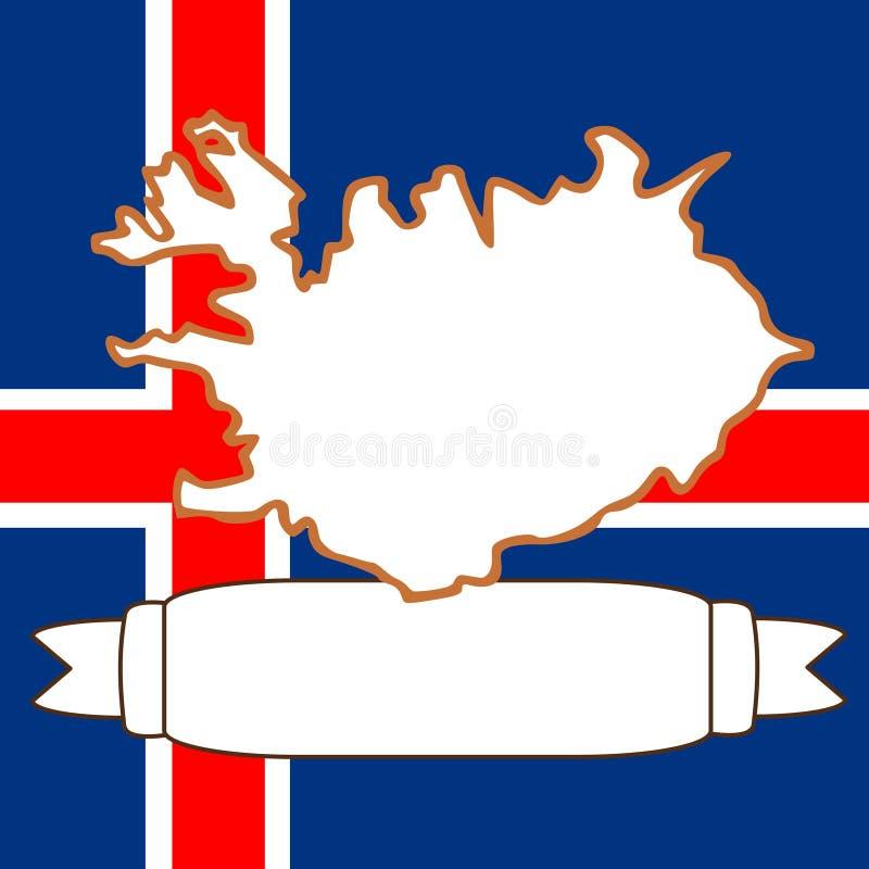 Download Karte von Island stock abbildung. Illustration von zustand - 9079085