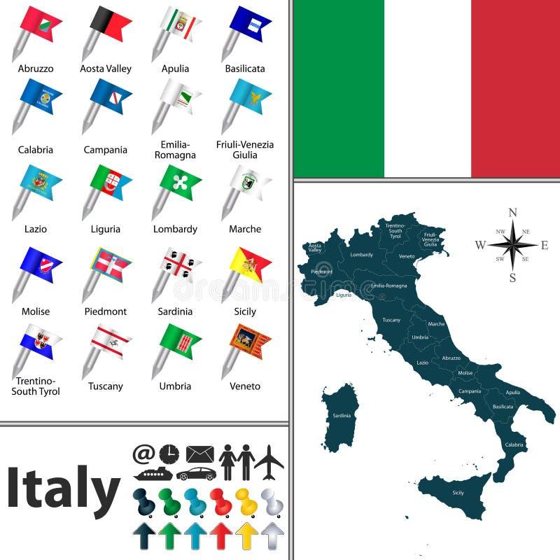 Karte von Italien vektor abbildung