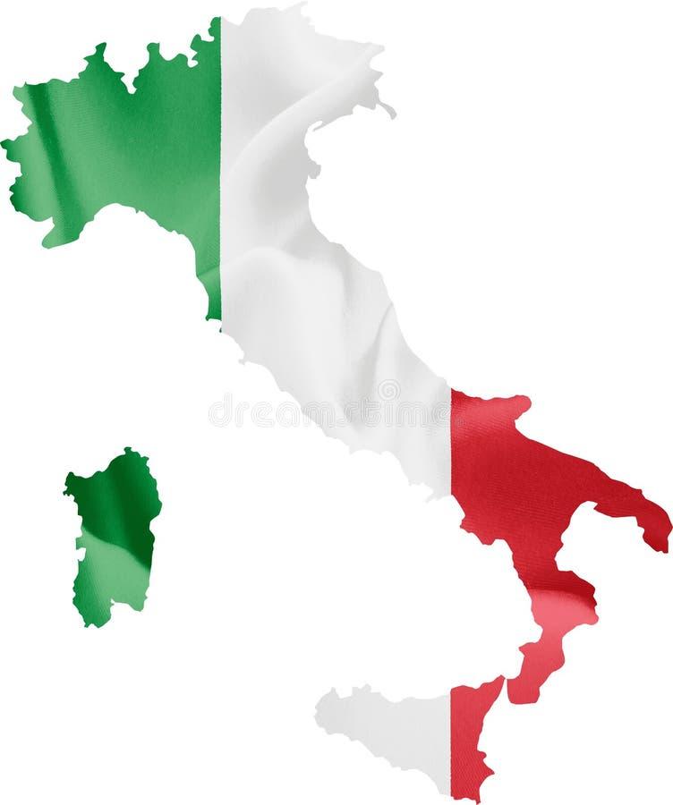Karte von Italien mit Markierungsfahne vektor abbildung