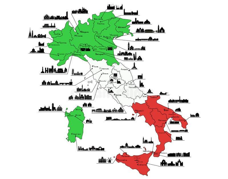 Siena Stadtplan Italien Stock Abbildung Illustration Von