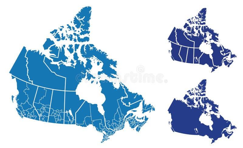 Karte von Kanada lizenzfreie abbildung