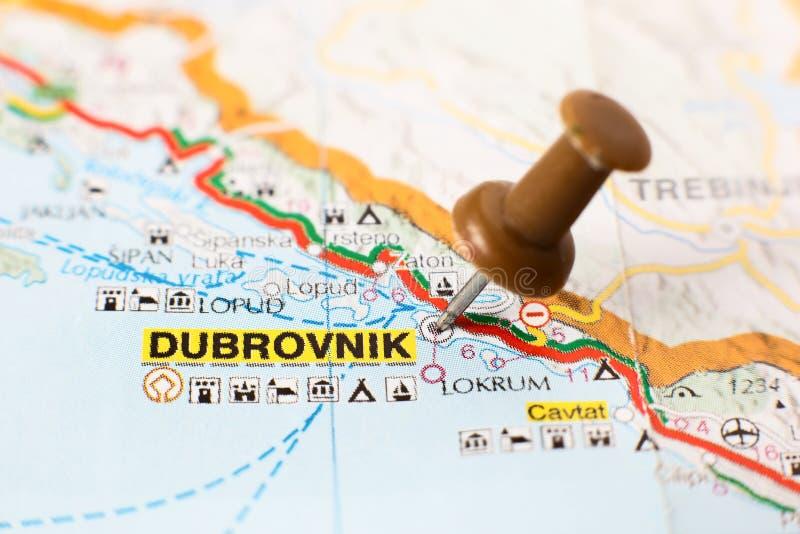 Karte von Kroatien - Dubrovnik stockfotografie
