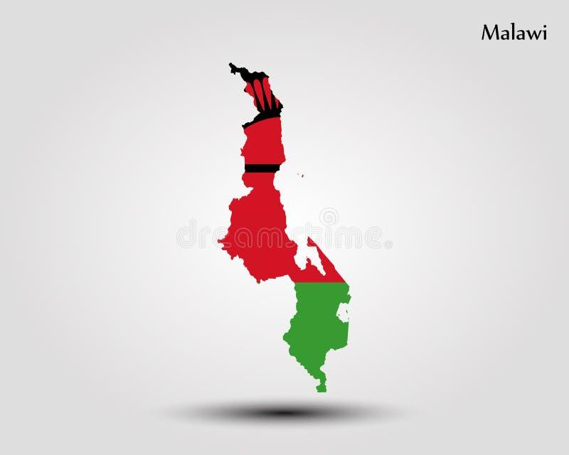 Karte von Malawi vektor abbildung