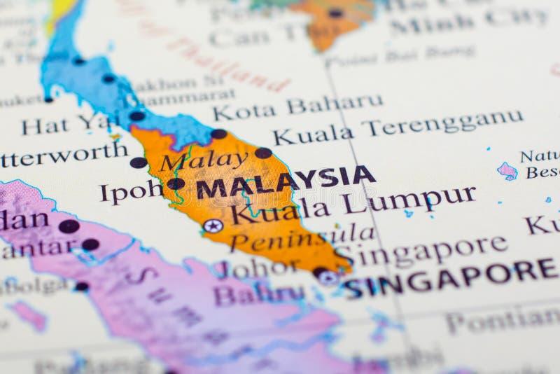 Karte von Malaysia lizenzfreies stockbild