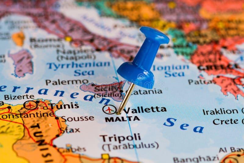 Karte von Malta lizenzfreie stockfotografie