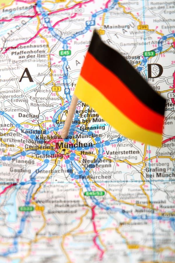 Karte von Munchen lizenzfreie stockfotografie
