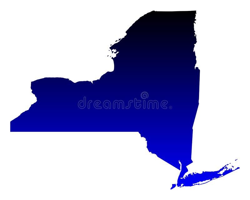 Karte von New York lizenzfreie abbildung