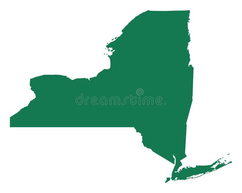 Karte von New York stock abbildung