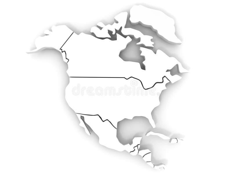 Karte von Nordamerika stock abbildung. Illustration von amerika ...