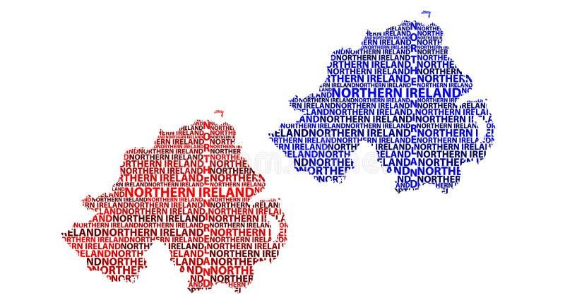 Karte von Nordirland - Vektorillustration lizenzfreie abbildung