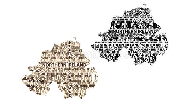 Karte von Nordirland - Vektorillustration stock abbildung