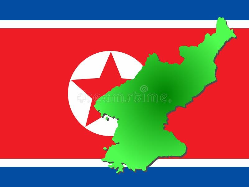 Karte von Nordkorea lizenzfreie abbildung