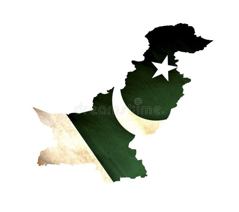 Karte von Pakistan lokalisierte stockbild