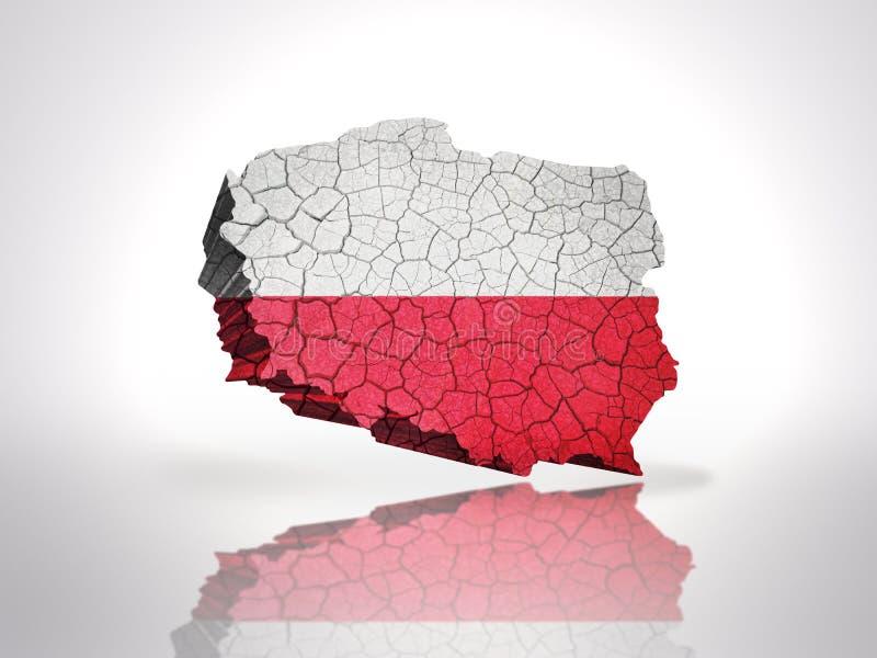 Karte von Polen lizenzfreie abbildung