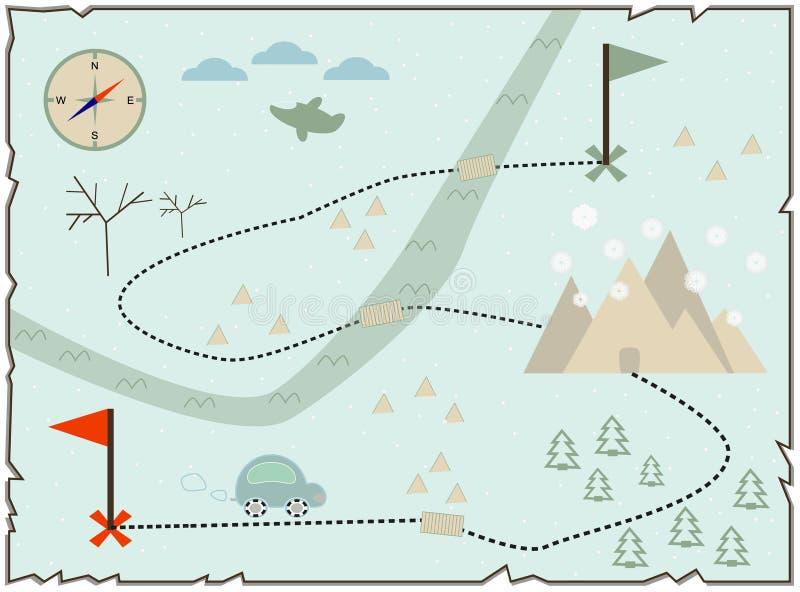Karte von Schatz-Insel vektor abbildung