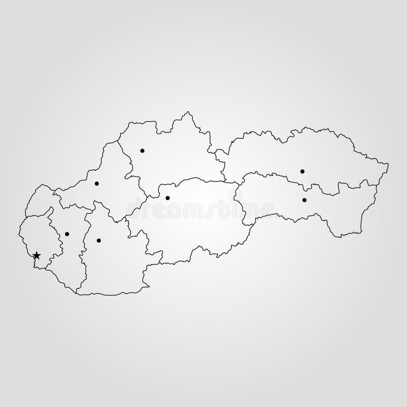 Karte von Slowakei vektor abbildung