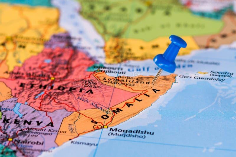Karte von Somalia lizenzfreie stockbilder