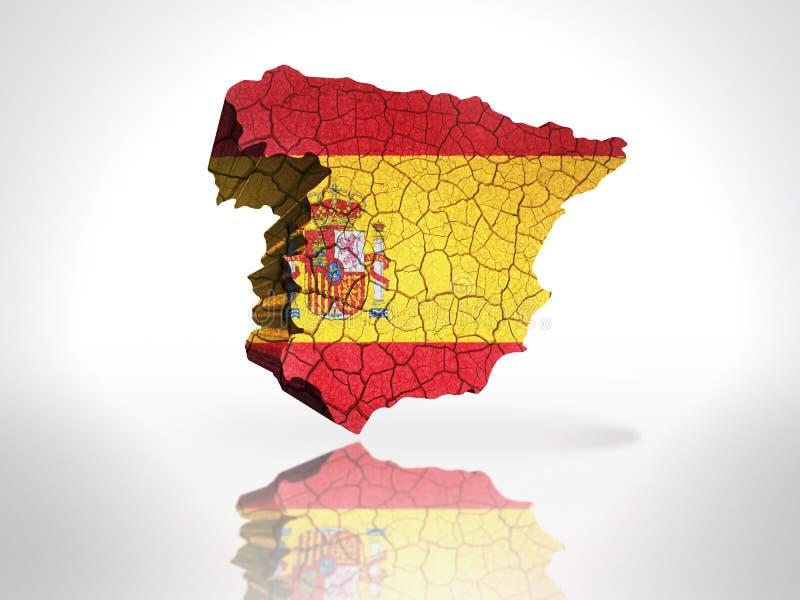 Karte von Spanien stock abbildung