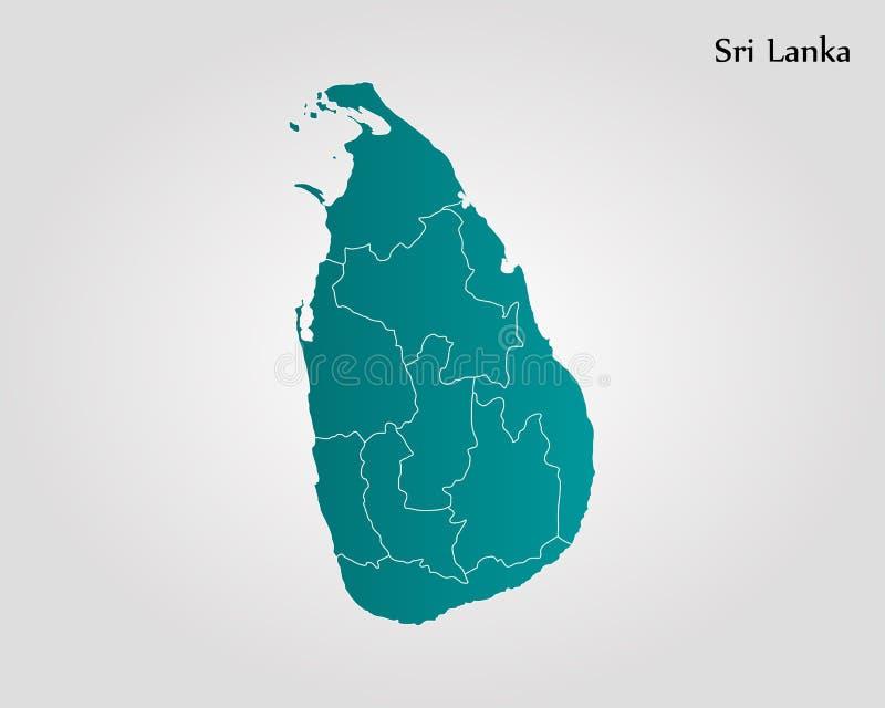 Karte von Sri Lanka stock abbildung