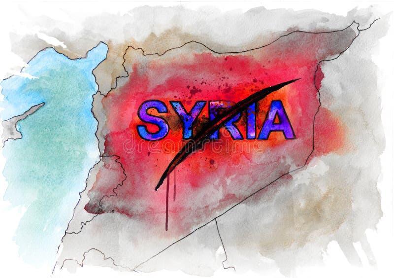 Karte von Syrien vektor abbildung