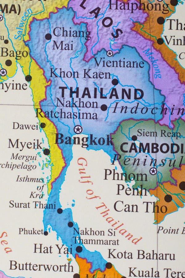 Karte von Thailand stockbilder