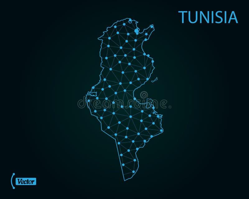 Tunesien Karte Welt.Tunesien Auf Weltkarte Vektor Abbildung Illustration Von