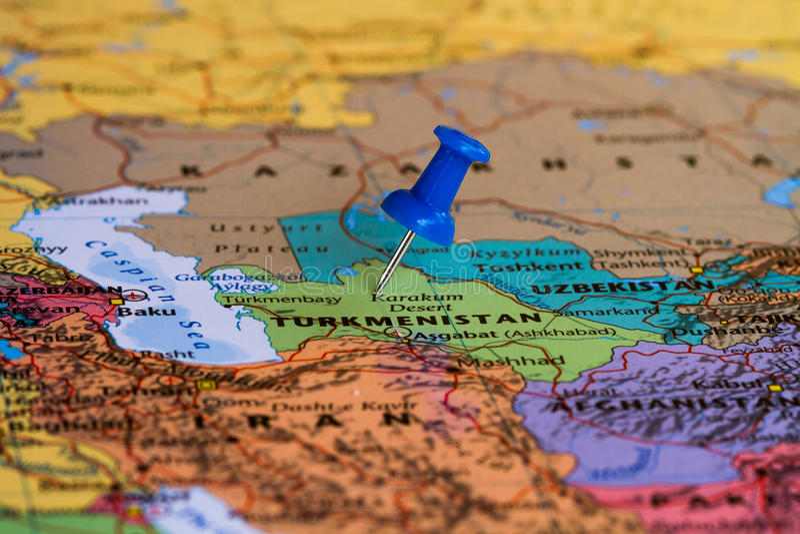 Karte von Turkmenistan lizenzfreie stockfotografie