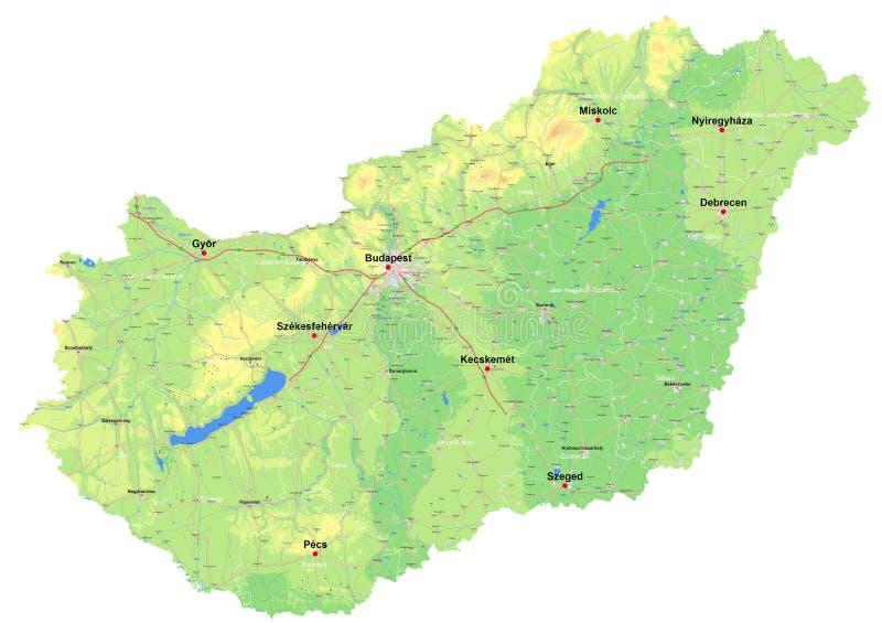 Karte von Ungarn stock abbildung