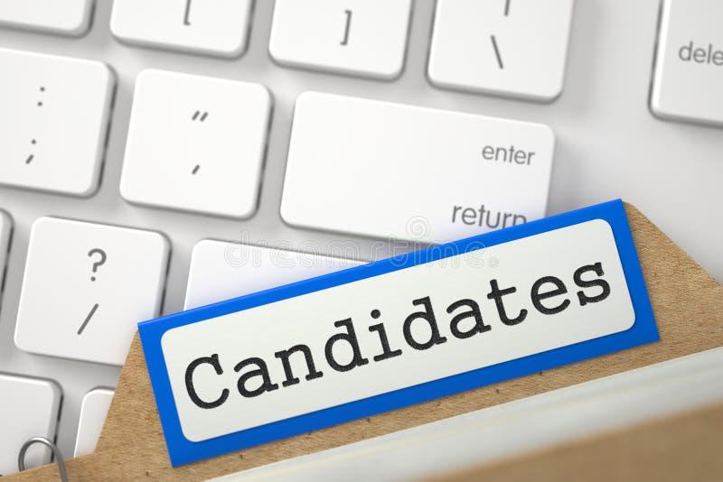 Karteikarte mit Kandidaten 3d übertragen stock abbildung
