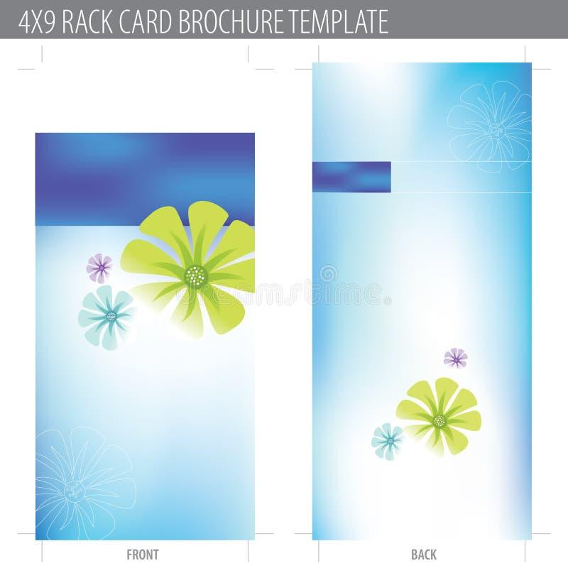 Karten-Broschüre-Schablone der Zahnstangen-4x9 vektor abbildung