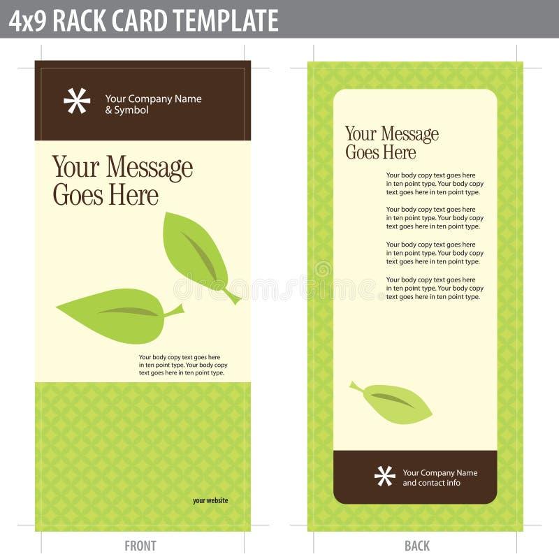 Karten-Broschüre-Schablone der Zahnstangen-4x9 lizenzfreie abbildung